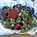 Beetroots ready for the oven