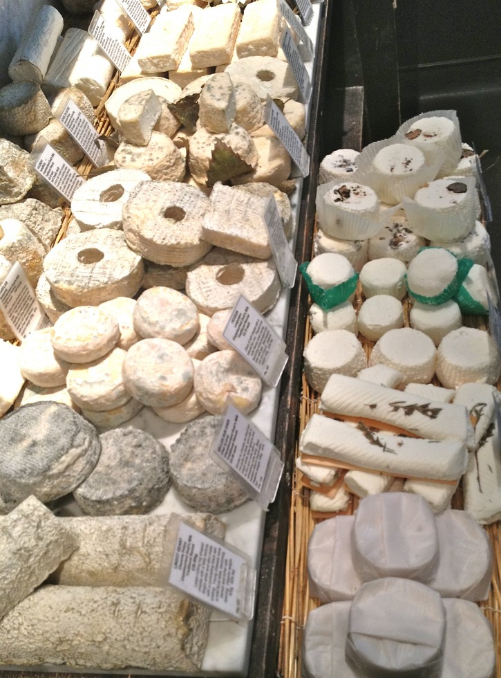 French goat cheeses in perfect condition
